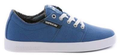 Supra Skateboard Schuhe Stacks II Stone Blue / Black-White - Sneakers Sneaker – Bild 2
