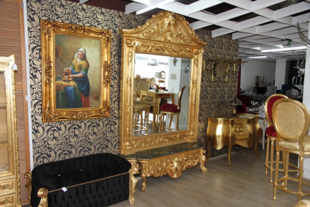 Casa padrino luxus barock spiegelkonsole gold lion luxus wohnzimmer m bel konsole mit spiegel - Barock wohnzimmer modern ...