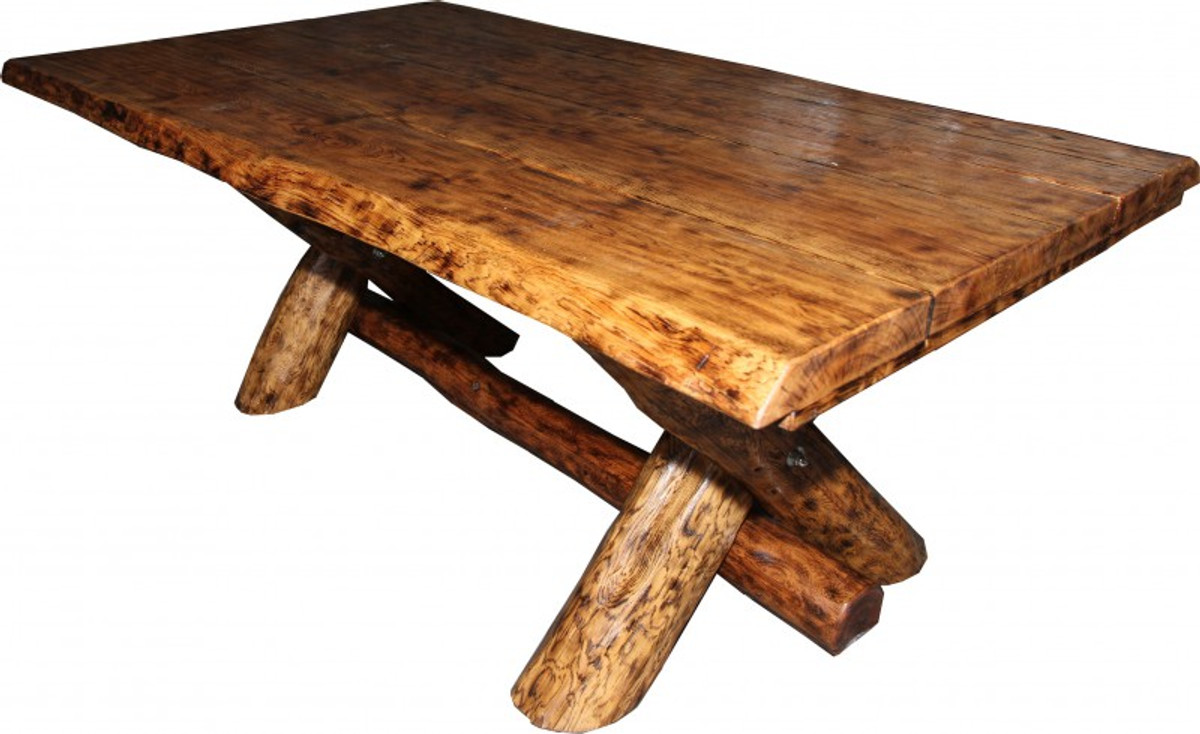 rustic oak dining table 200 x 115 cm massive and heavy. Black Bedroom Furniture Sets. Home Design Ideas