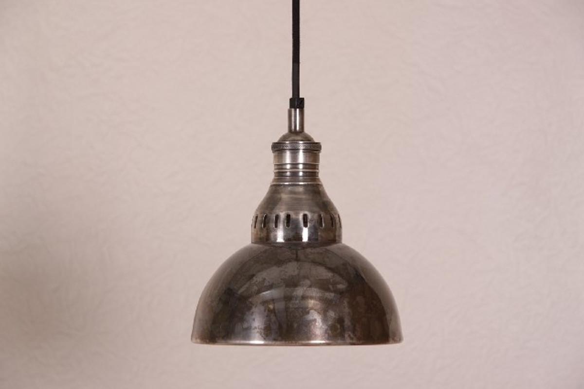 Casa Padrino Suspension Lamp Ceiling Lamp Antique Style Silver Industrial  Design Vintage 20cm Diameter   Industrial Lamp Hanging Lamp