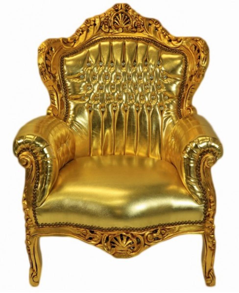 casa padrino baroque armchair king gold gold. Black Bedroom Furniture Sets. Home Design Ideas