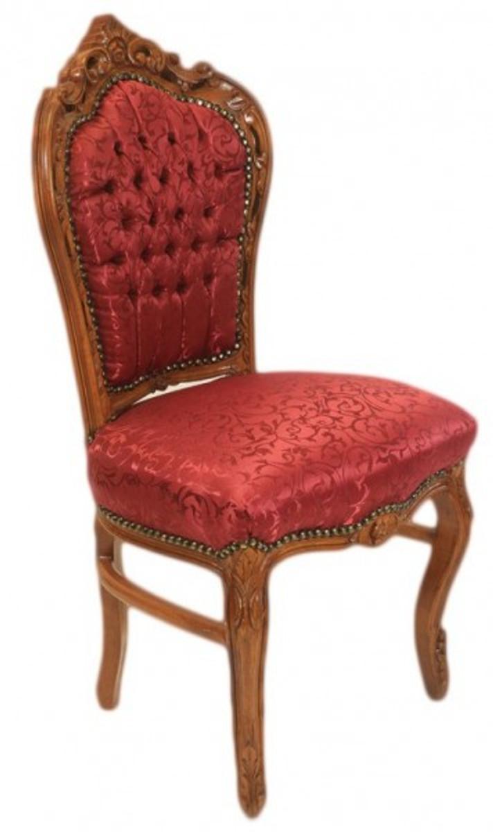 casa padrino barock esszimmer stuhl bordeaux muster braun antik m bel st hle barock st hle. Black Bedroom Furniture Sets. Home Design Ideas