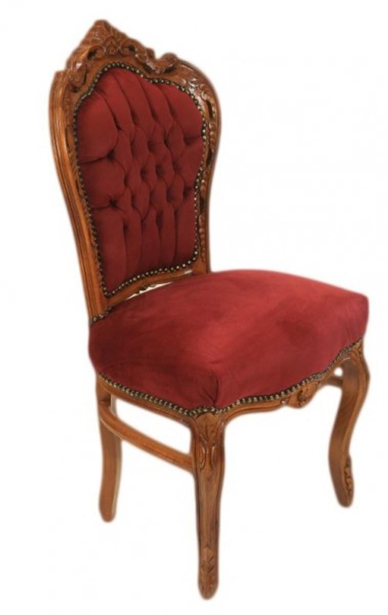 casa padrino barock esszimmer stuhl bordeaux braun. Black Bedroom Furniture Sets. Home Design Ideas