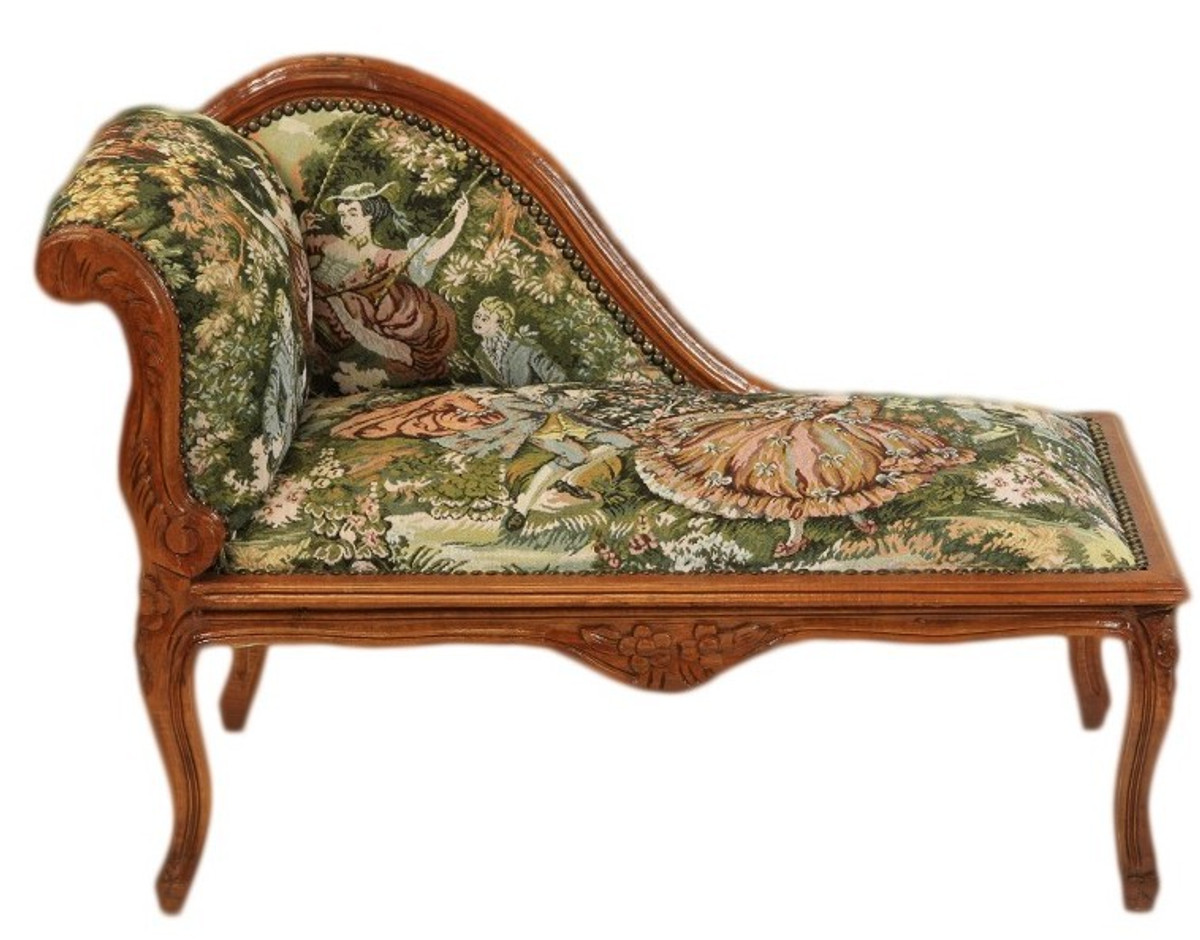 casa padrino baroque chaise children mod2 tapestry brown antique style kids furniture kids. Black Bedroom Furniture Sets. Home Design Ideas