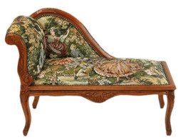 Casa Padrino baroque chaise children Mod2 tapestry / Brown - Antique style