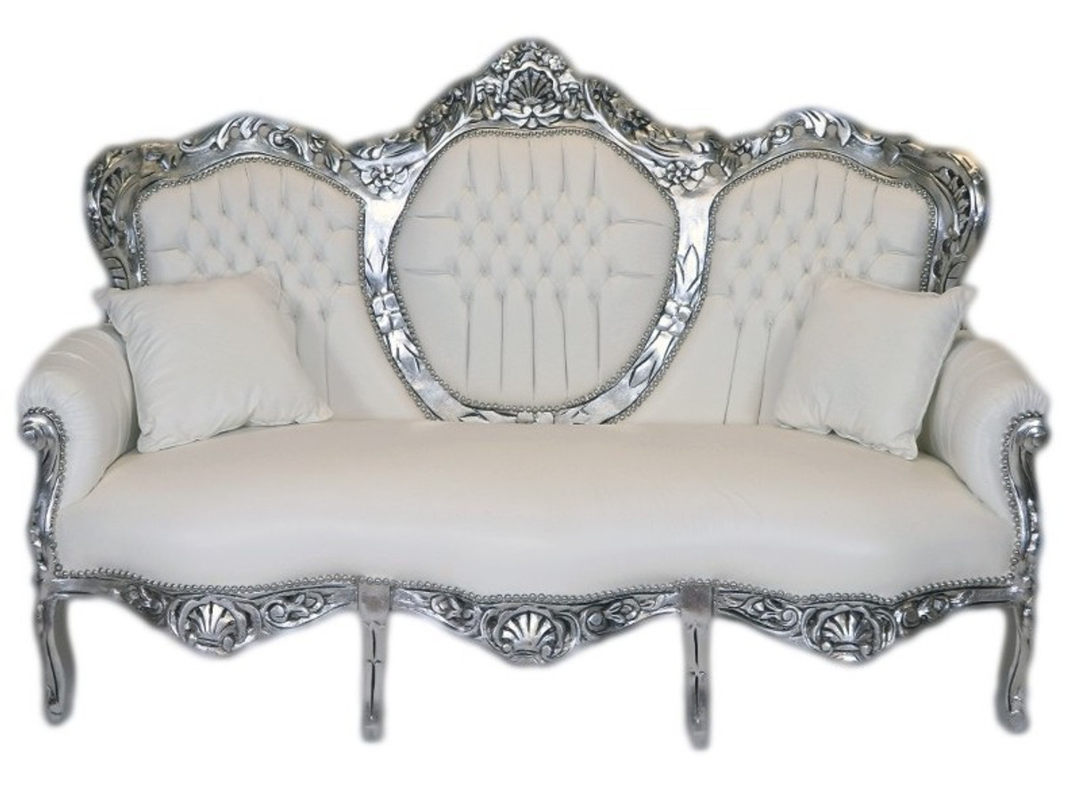 Casa Padrino casa padrino luxury living room armchair footstool with taupe