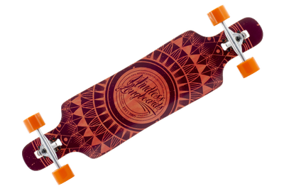 Mindless Complete Longboard Sanke II Brown Drop Through 39.0 x 9.5 inch -  Dropthrough Profi Longboard mit Koston Kugellagern – Bild 1