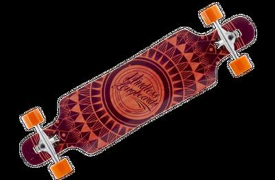 Mindless Complete Longboard Sanke II Brown Drop Through 39.0 x 9.5 inch -  Dropthrough Profi Longboard mit Koston Kugellagern – Bild 1