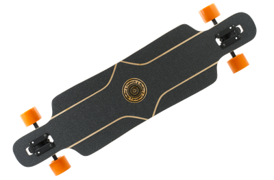 Mindless Complete Longboard Falcon Brown Drop Through 39.0 x 9.5 inch -  Dropthrough Profi Longboard mit Koston Kugellagern – Bild 2