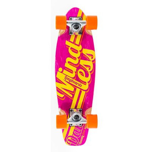 Mindless Stained Daily Oldschool Skateboard Wood Cruiser Komplettboard Pink / Yellow - Old School Complete Skateboard mit Koston Kugellagern – Bild 1
