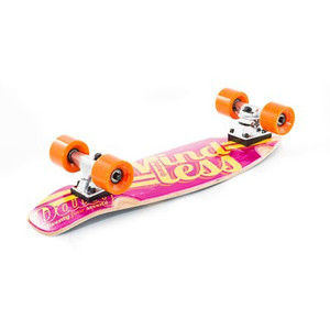 Mindless Stained Daily Oldschool Skateboard Wood Cruiser Komplettboard Pink / Yellow - Old School Complete Skateboard mit Koston Kugellagern – Bild 2