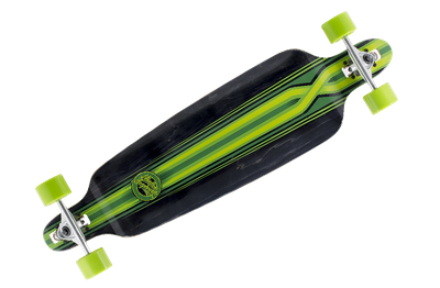 Mindless Complete Longboard Savage III Black/Green Drop Through 39.75 x 10.0 inch -  Dropthrough Profi Longboard mit Koston Kugellagern – Bild 1