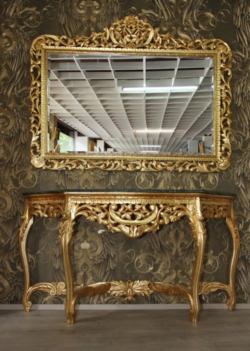 riesige casa padrino barock spiegelkonsole gold mit gruner marmorplatte luxus wohnzimmer mobel konsole mit spiegel spiegel barock spiegel barock