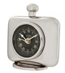 Casa Padrino vintage luxury table clock silver color nickel-plated brass - Noble & Sumptuously - Table clock