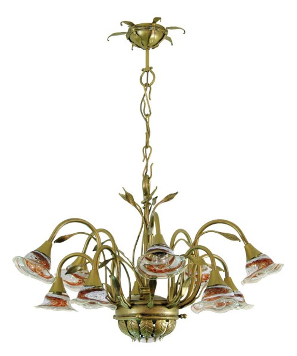 Casa padrino barock schmiedeeisen kronleuchter 10 flammig glas h ngeleuchte l ster h ngelampe - Kronleuchter barock ...