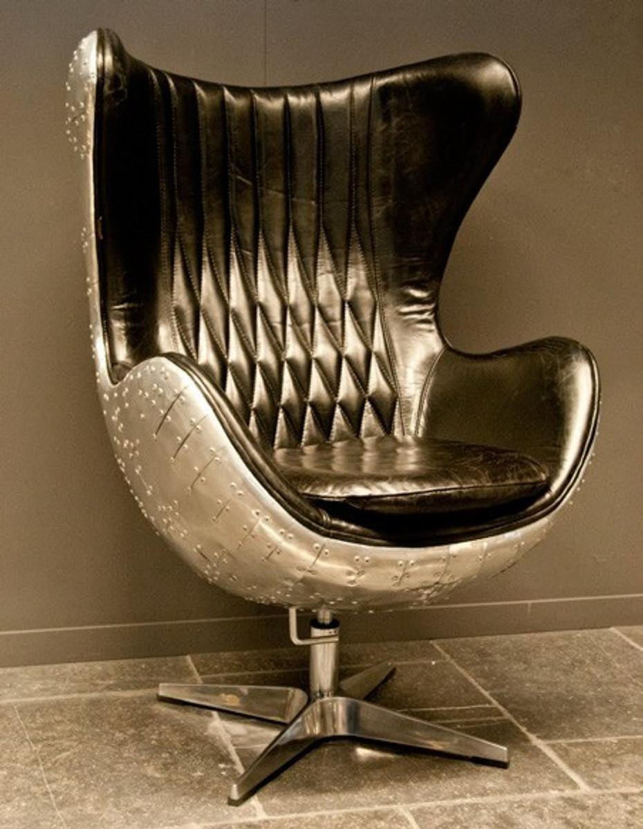vintage echtleder sessel retro ledersessel drehsessel loft sessel, Mobel ideea