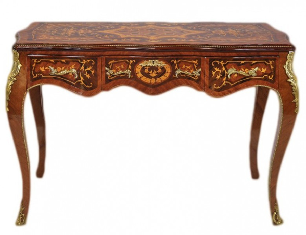 Casa Padrino Luxus Barock Schreibtisch Mahagoni Sekretär 120 Cm   Antik Stil