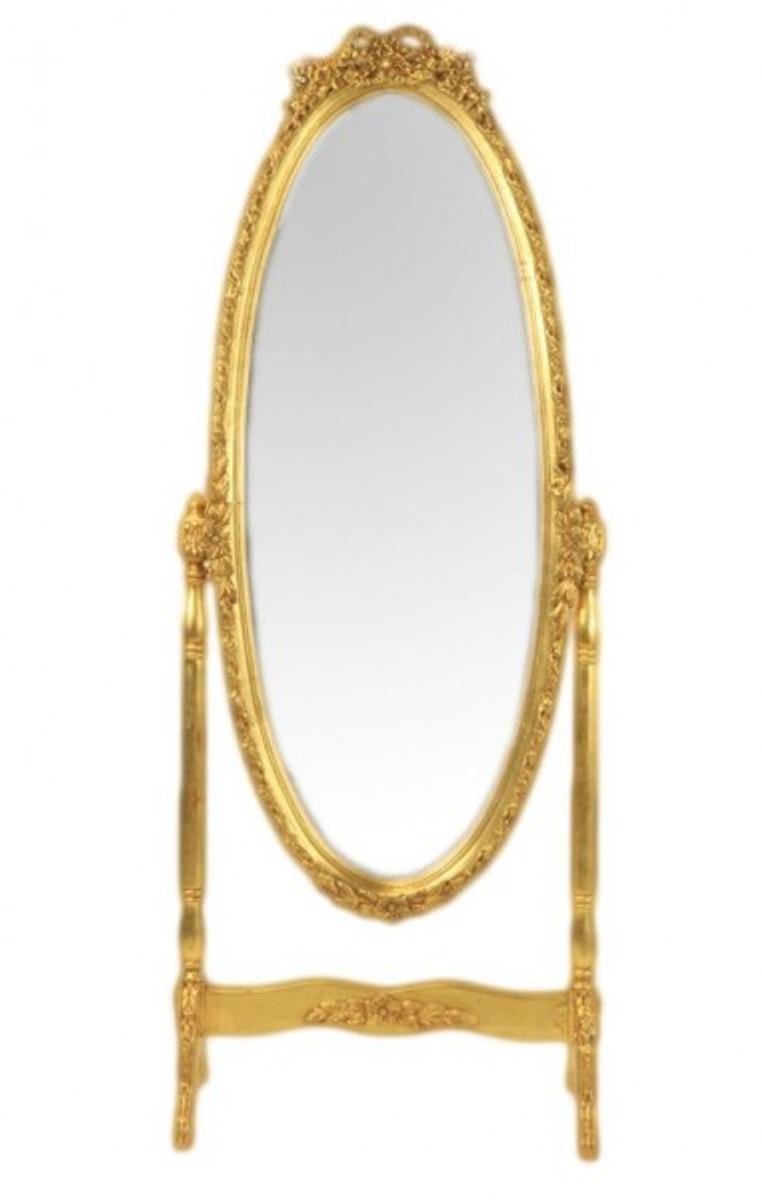 Casa Padrino Baroque Cheval Mirror Swivel Gold Gold Mirror
