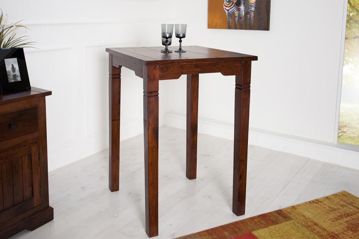 Casa padrino bar tisch aus massivem sheeshamholz antik for Zimmer tisch