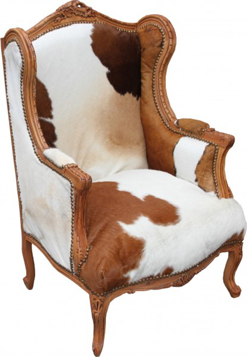 casa padrino baroque lounge throne cowhide mod2. Black Bedroom Furniture Sets. Home Design Ideas