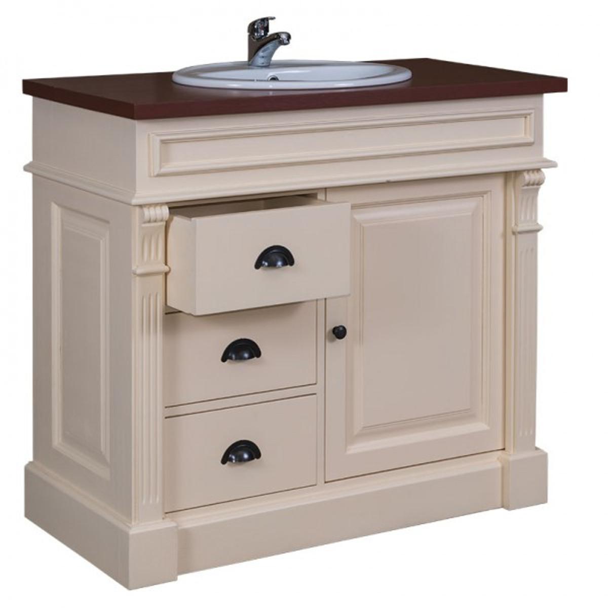casa padrino landhaus stil waschschrank waschtisch inkl 1. Black Bedroom Furniture Sets. Home Design Ideas
