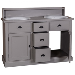 casa padrino landhaus stil waschschrank waschtisch inkl 2 waschbecken mit schubladen und. Black Bedroom Furniture Sets. Home Design Ideas