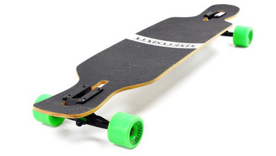 NINETYSIXTY Drop Through Longboard Bambus / Fiberglas - Dropthrough Long Board mit koston Kugellagern – Bild 3