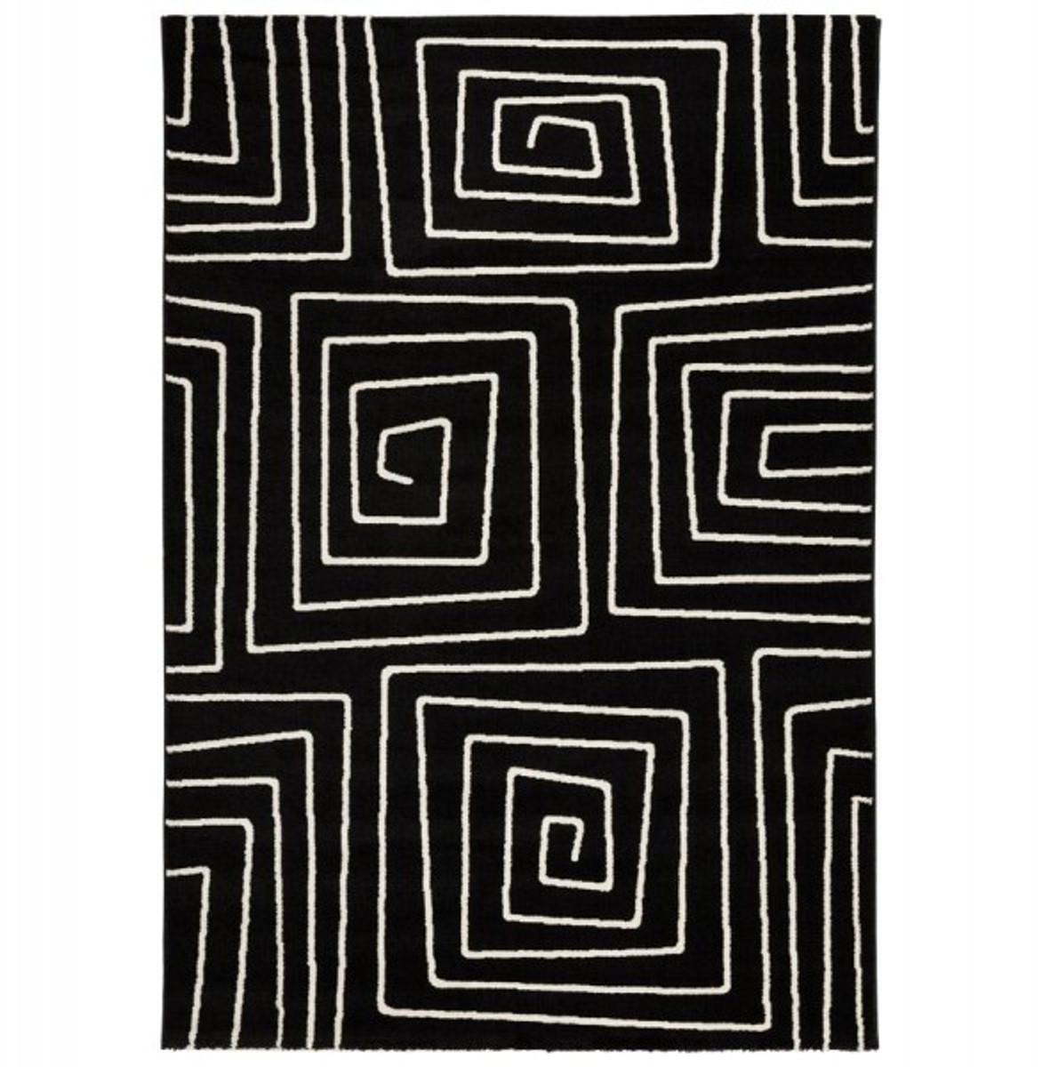 casa padrino designer teppich 160 x 230 cm schwarz wei. Black Bedroom Furniture Sets. Home Design Ideas