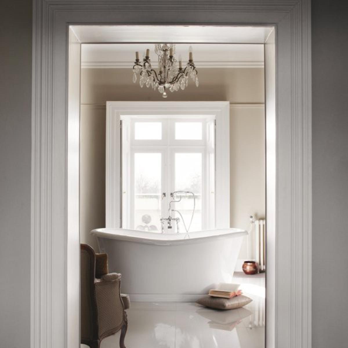 Casa Padrino Bathtub Freestanding 1650mm Badm165 Freestanding Retro Antique Bathtub