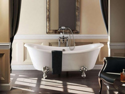 Casa Padrino Nouveau bath freestanding 1640mm Bbat White - Freestanding Retro antique bathtub