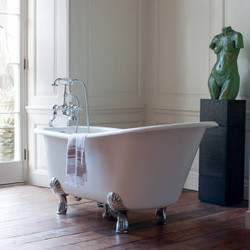 Casa Padrino Nouveau bath stone freestanding 1700mm Bhan White - Freestanding Retro baroque antique bathtub