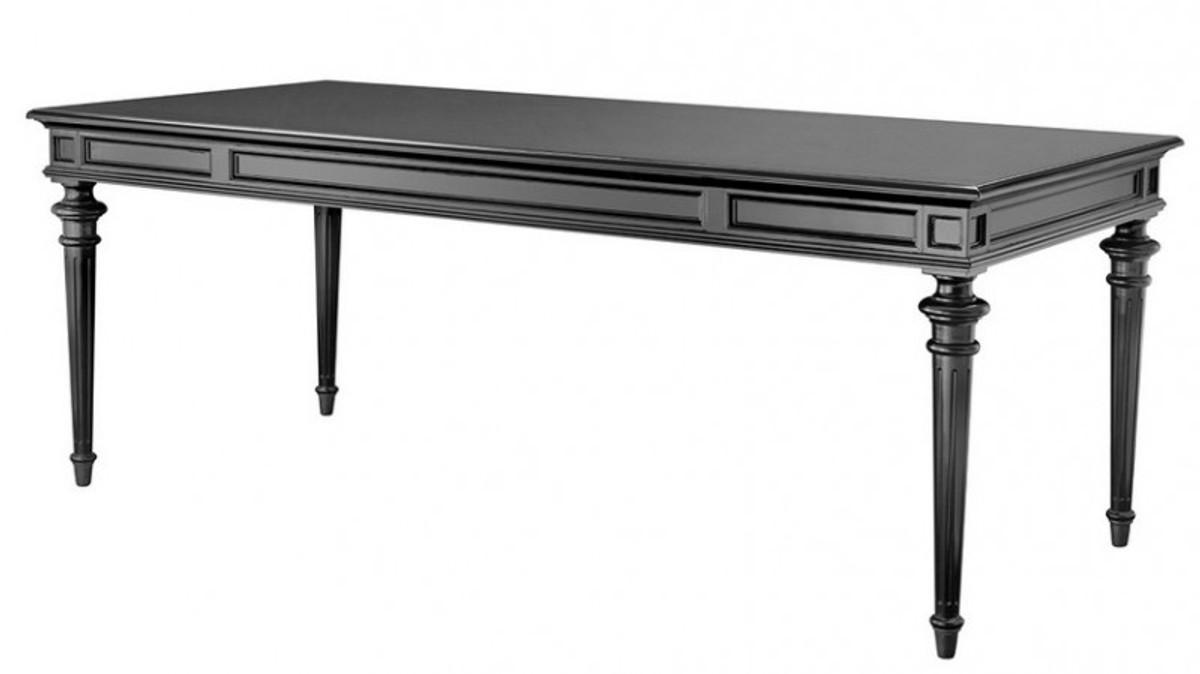 englischer antik stil esstisch schwarz gewachst 210 x 94 cm aus dem hause casa padrino esstische. Black Bedroom Furniture Sets. Home Design Ideas
