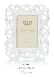 Casa Padrino Baroque picture frames White Antique Style 23 x 19 cm - Photo Frame Art Nouveau Antique style Mod AX8