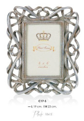Casa Padrino Baroque picture frame Silver Antique Style 23 x 19 cm - Photo Frame Art Nouveau Antique style Mod AX9