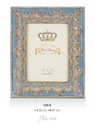 Casa Padrino Barock Bilderrahmen Blau Antik Stil 27 x 22 cm - Bilder Rahmen Foto Rahmen Jugendstil Antik Stil Mod AX12