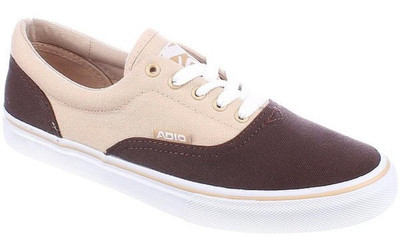 Adio Skateboard Schuhe Cruiser Canvas Brown/Tan - Sneakers Sneaker