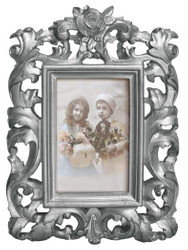 Casa Padrino baroque picture frame 28 x 20 cm Silver - Photo Frame Art Nouveau Antique style Mod AX26