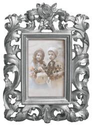 Casa Padrino Barock Bilderrahmen 28 x 20 cm Silber - Bilder Rahmen Foto Rahmen Jugendstil Antik Stil Mod AX26
