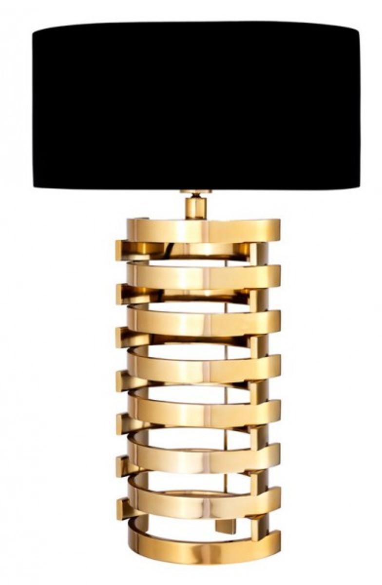 casa padrino luxus tischleuchte gold finish lampenschirm. Black Bedroom Furniture Sets. Home Design Ideas