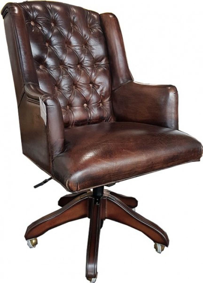 schreibtischstuhl leder stroyreestr. Black Bedroom Furniture Sets. Home Design Ideas