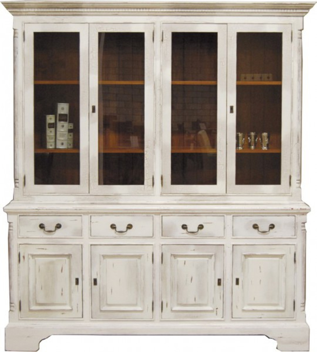 casa padrino vintage buffetschrank antik stil weiss holzfarben h 219 x b 189 cm vitrine. Black Bedroom Furniture Sets. Home Design Ideas