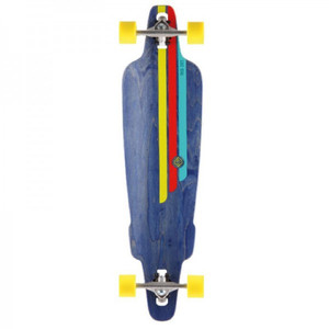 Flying Wheels Longboard Drop Through Cruiser Rig Navy 38.5 Komplettboard - Carver - Special Edition mit Koston Kugellagern Drop Thru – Bild 1