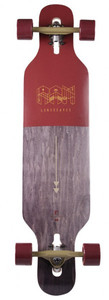 RAM Drop Through Longboard Komplettboard Ciemah Rosewood - Special Edition mit Koston Kugellagern – Bild 2