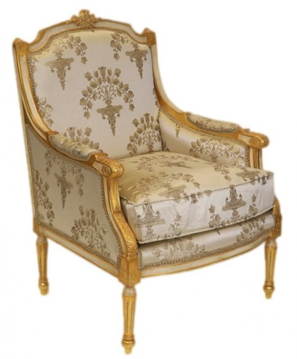 Casa padrino barock lounge thron sessel empire creme for Ohrensessel muster