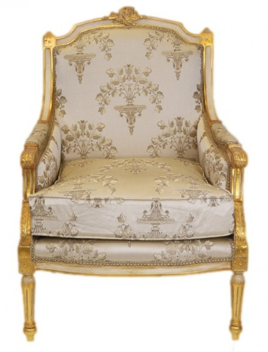Casa padrino barock lounge thron sessel empire creme for Ohrensessel creme