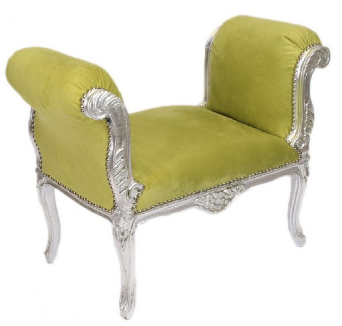 casa padrino barock schemel hocker jadegr n silber. Black Bedroom Furniture Sets. Home Design Ideas