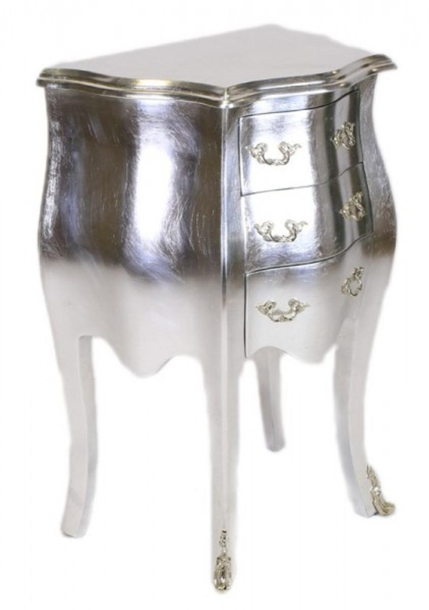 Casa padrino barock kommode silber h 70 cm b 50 cm for Kommode 70 x 100