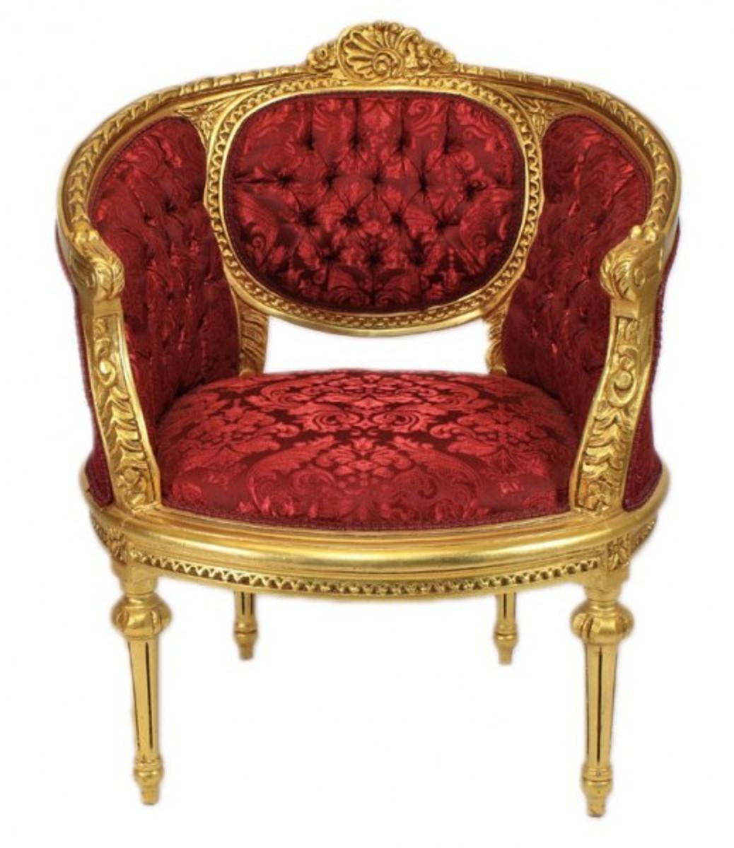 Casa padrino barock wohnzimmer set marseille bordeaux - Barock wohnzimmer ...