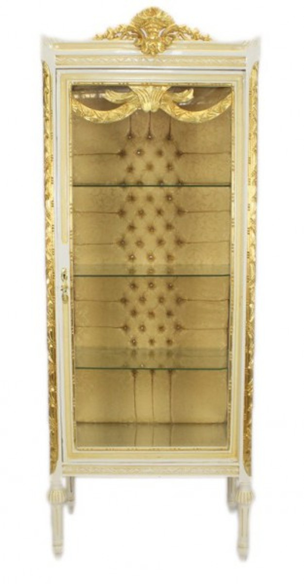 ... Casa Padrino Baroque Display Case Antique Style White / Gold   Display  Cabinet   Living Room