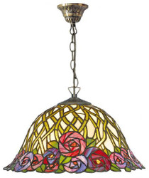 Casa Padrino Tiffany ceiling lamp / Hanging lamp with chain mosaic glass Diameter 40 cm - light lamp